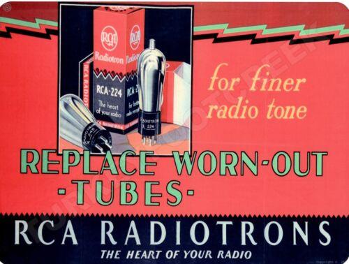 """RCA RADIOTRONS 9/"""" x 12/"""" Sign"""