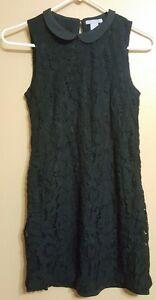 H-amp-M-Black-Sleeveless-Lace-Dress-size-4-US-34-EUR