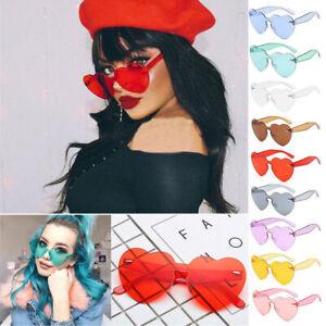 Tint-Women-Rimless-Frame-Clear-Eyeglasses-Cat-Eye-Sun-Glasses-Heart-Sunglasses