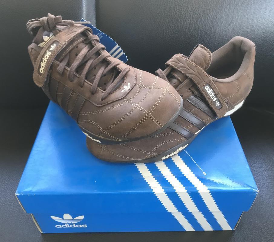 adidas originaux des des des hommes est adi racer de chaussures en cuir brun volant bas 8 b1a6c1