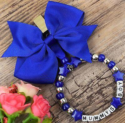 Dolce Splendido Ciondolo Personalizzato Per Carrozzina In Blu Per Baby Boys-