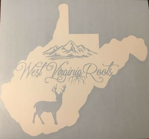 West Virginia Car Window Decal Sticker Deer