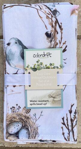 Colordrift Nesting Robins Egg Bird Nest Cloth Napkins Set 4
