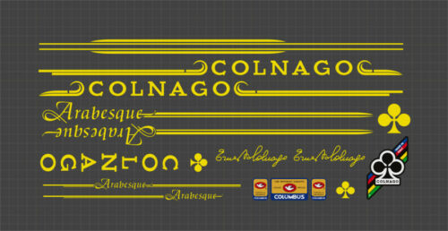 COLNAGO ARABESQUE FRAME DECAL SET YELLOW