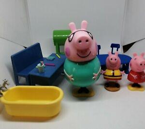 Peppa-Pig-Figures-Toys-Peppa-Bundle-Joblot-Desk-Furniture-RD