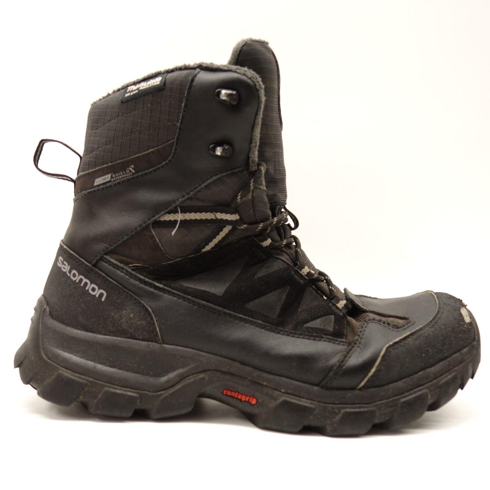 Salomon para hombre ocultas Negro Thinsulate Climashield Impermeable botas de Invierno US 11