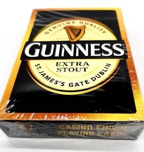 Guinness Cards Extra Stout Casino Finish Playing Cards New Sealed