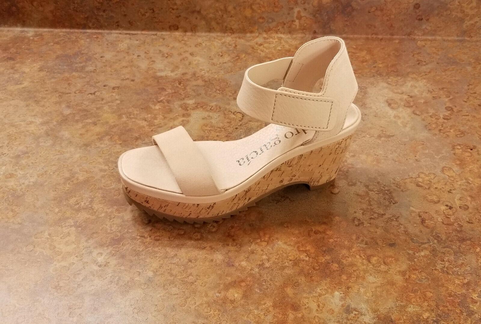 New  Pedro Garcia 'Franses' Platform Sandal Beige Größe 6.5 US 36.5 Eur MSRP  525