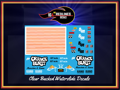 "1//24 Scale /'55 Chevy /""Orange Burst/"" Gasser Decal SCR-124-0002"