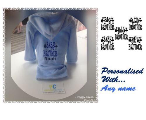 6 12 18 24 2 3 4 5 6 personnalisé robe de chambre bébé Moyen Little Big Brother