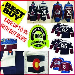 Colorado-Avalanche-Hockey-Jersey-Men-29-Nathan-MacKinnon-8-Cale-Makar-navy-S-3XL