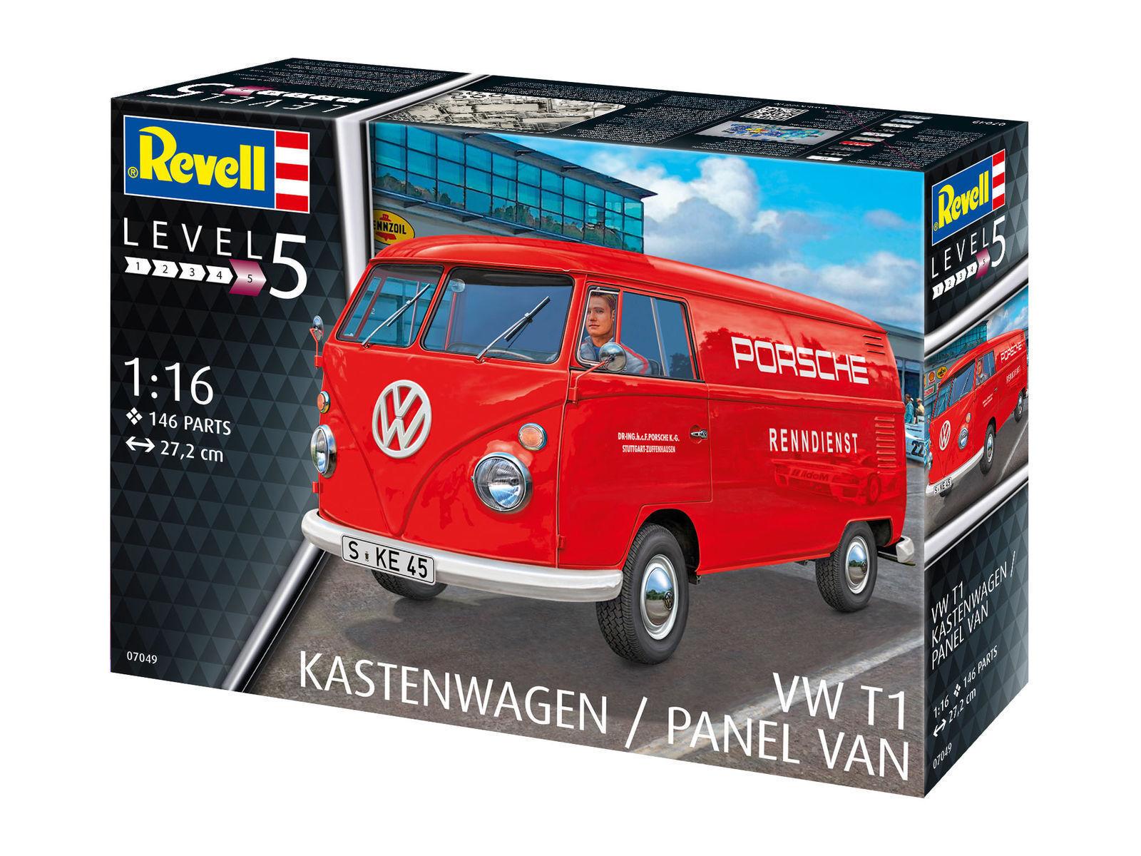 Revell 07049 VW T1 Furgoneta Porsche Escultura Modelo de Construcción 1 16 Nuevo