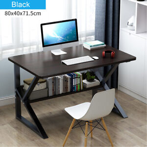 Computer-Desk-PC-Laptop-Table-Study-Workstation-Home-Office-w-Shelf-Furniture-US