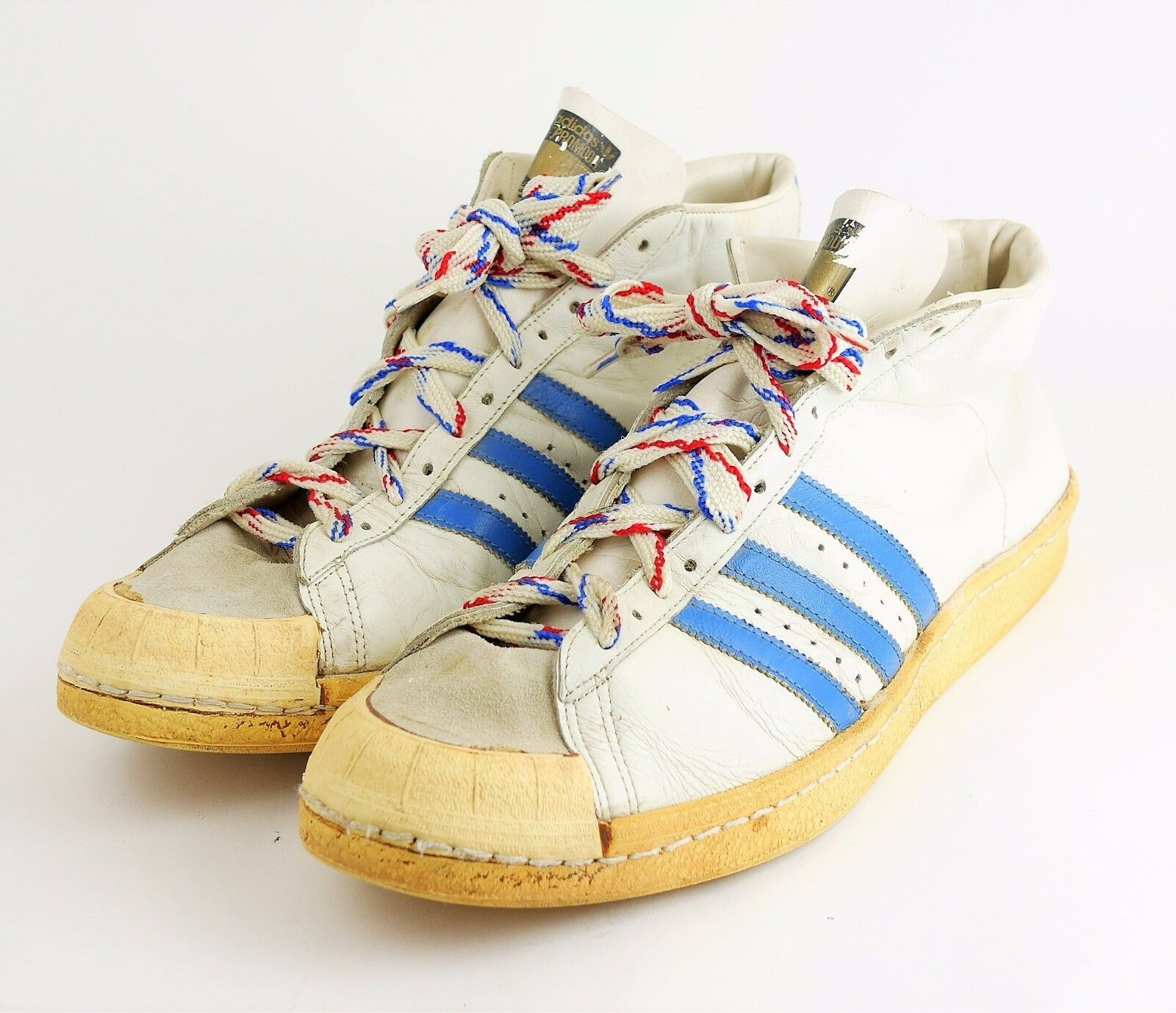 VINTAGE ADIDAS PROMODEL High Top Basketball Athletic Shoes Sneakers - Men's 17