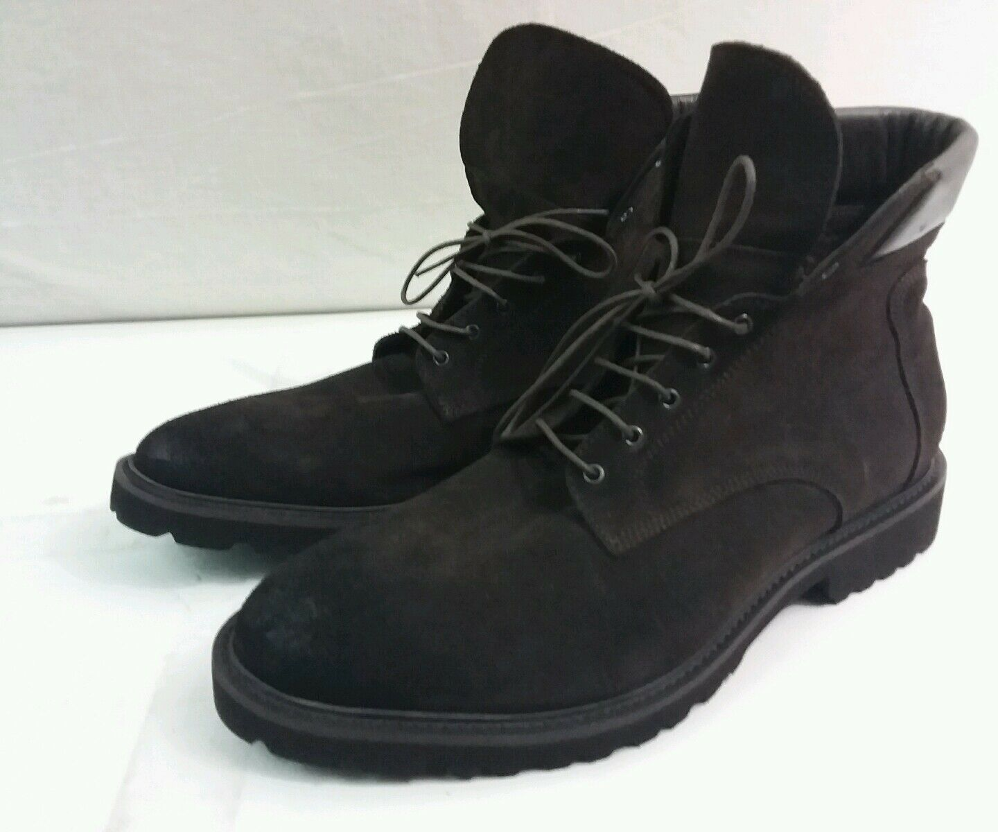 New TO BOOT NEW YORK Men's Choc Brown Suede Ankle boots, 10