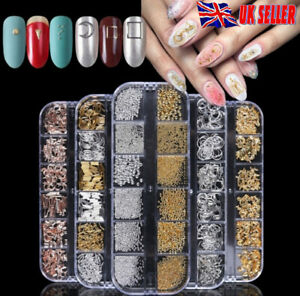 Nail-Art-Rhinestones-Crystals-Gems-Beads-Charms-Pearl-Shapes-3D-Sequins-UK