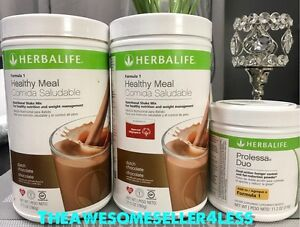 NEW-2X-HERBALIFE-FORMULA-1-HEALTHY-MEAL-SHAKE-amp-PROLESSA-DUO-30-DAY-PROGRAM