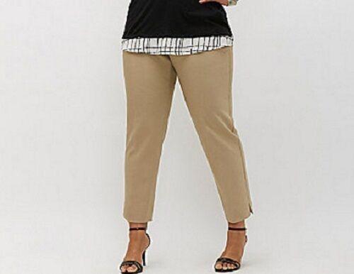 60 Lane Bryant Modernist Ashley Ankle Pant Trousers Tan Plus Size 22W 3X NWT
