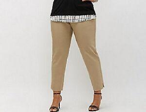 60-Lane-Bryant-Modernist-Ashley-Ankle-Pant-Trousers-Tan-Plus-Size-22W-3X-NWT