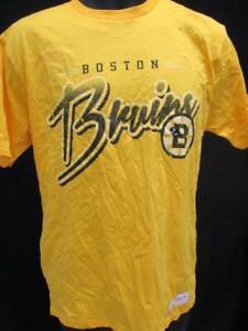 Actif Neuf Boston Bruins Hommes Taille M Jaune Mithchell Ness Chemise $35