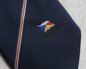 Vintage-Tie-MENS-Necktie-Crested-Club-PANDORA-FLAG-BOAT-CRUISE-SHIP-FERRY-N