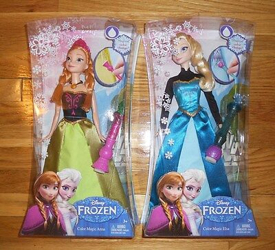 Disney Frozen Queen Elsa Barbie Doll Water Magic Color Change Dress Gown Outfit