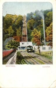 Mountain-Elevator-Montreal-Quebec-Canada-Vintage-Postcard-117-Color-Import-Card