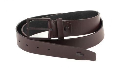 LACOSTE Classic Belt W95 Gürtel Ledergürtel Kürzbar Unisex Leder Braun Brown