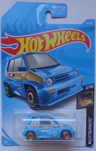 2019 Hot Wheels NIGHTBURNERZ 2//10 /'85 Honda City Turbo II 81//250