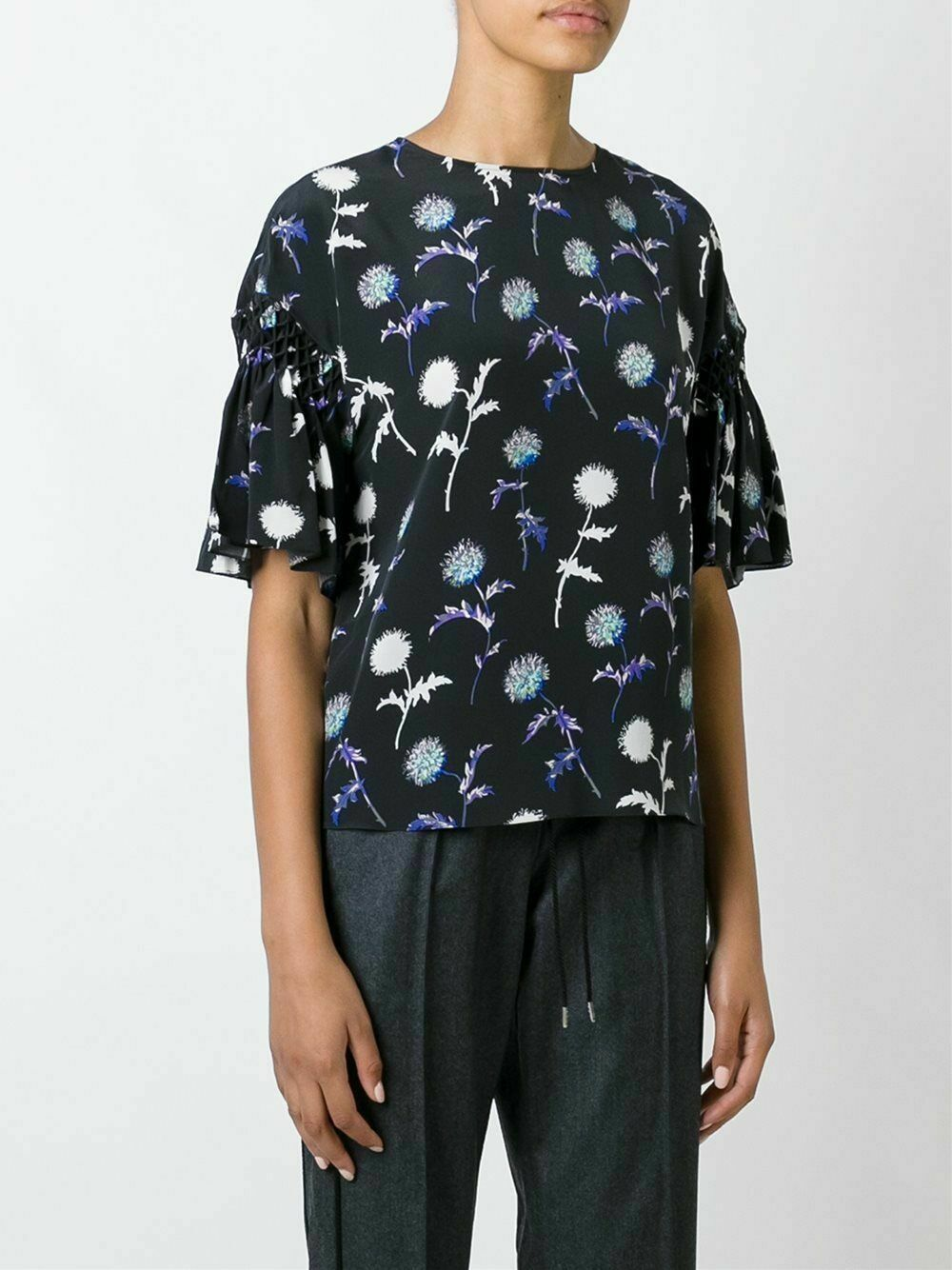 Kenzo Dandelion Print Silk Top, size 38 - New with tags, RRP