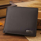 Fashion Men Genuine Leather Slim Trifold Wallet Credit/ID Card Holder Coin Purse