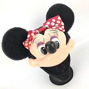 4af69eae96c Image is loading Vtg-Disney-Minnie-Mouse-Cosplay-Hat-Plush-Plastic-