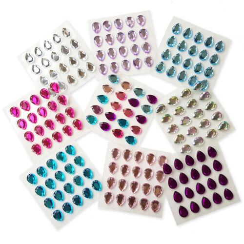 Auto Adhesivo Pegar en forma de Lágrima Cristal Joyas Adornos de Diamantes de Imitación 20 un
