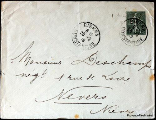 ALGERIE  1919  LETTRE BISKRA CONSTANTINE   ENVELOPPE     165CA87