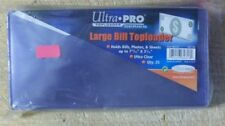 Ultra Pro Large Bill Currency Toploaders Topload Holders 50 Cases 7.5 x 3.5