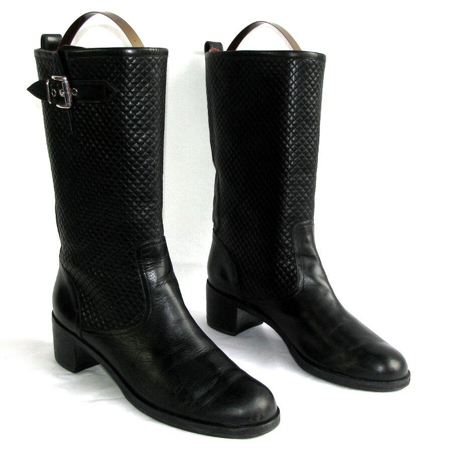 GIANVITO ROSSI - botas botas motardes cuir veau negro 41    - TRES BON ETAT