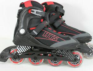 Gelegenheit-HyS-RED-Black-Speed-Inline-Skates-84-mm-Herren-Groesse-46