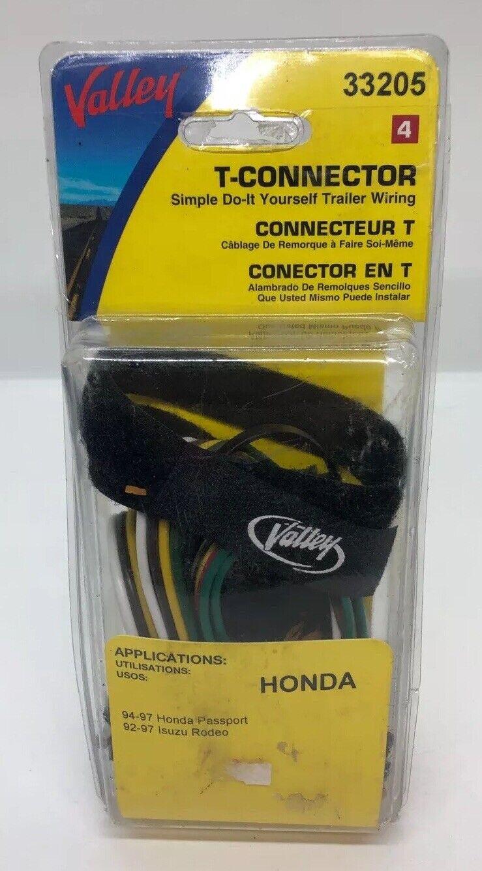 T-connector Trailer Wiring FOR 97 Isuzu Rodeo/Honda Passport #33205 Valley  Kit   eBayeBay
