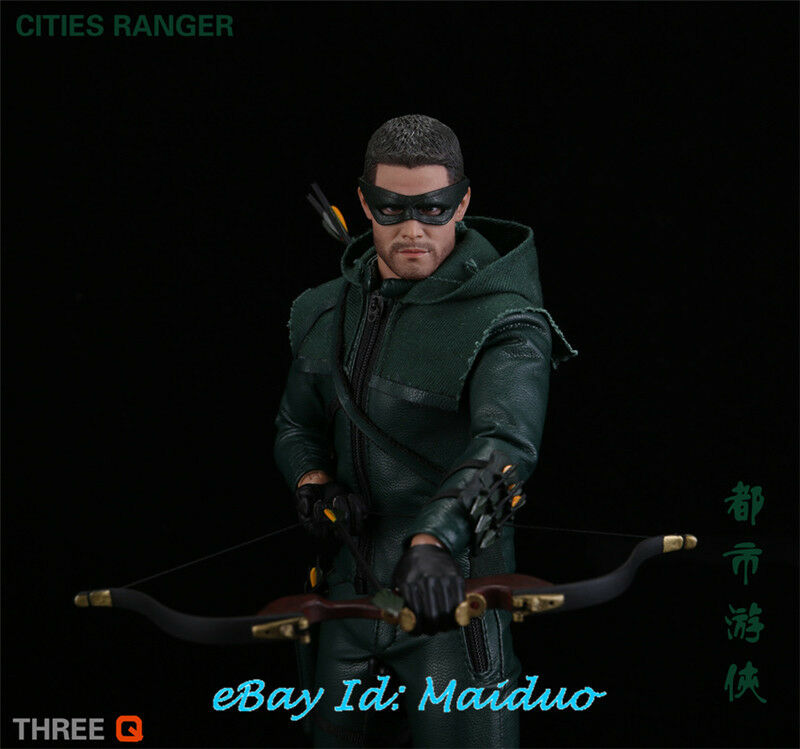 1/6 CITIES RANGER Oliver Queen Action Figure verde Arrow THREE Q Collections