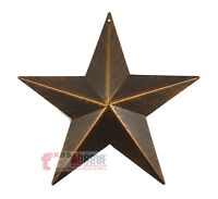 9 Rustic Metal Barn Star Brushed Copper Texas Tin Wall Mounted Decor Western