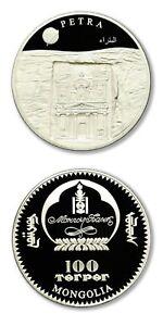 Mongolia Petra Jordan 100 Tugrik Terper 2008 Prooflike Crown