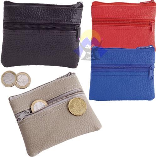 PORTASPICCI Euro UNISEX Cerniera Zip PORTAMONETE Centesimi UOMO//DONNA Money BAG