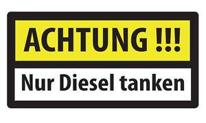 15x Attention Seulement Diesel Réservoir Étiquette Bouchon De Avertissement Pour Convenir à La Commodité Des Gens