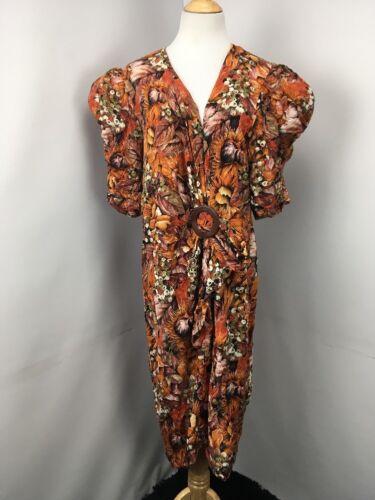80/'s Barbara Barbara of California Wrap Floral Blouse