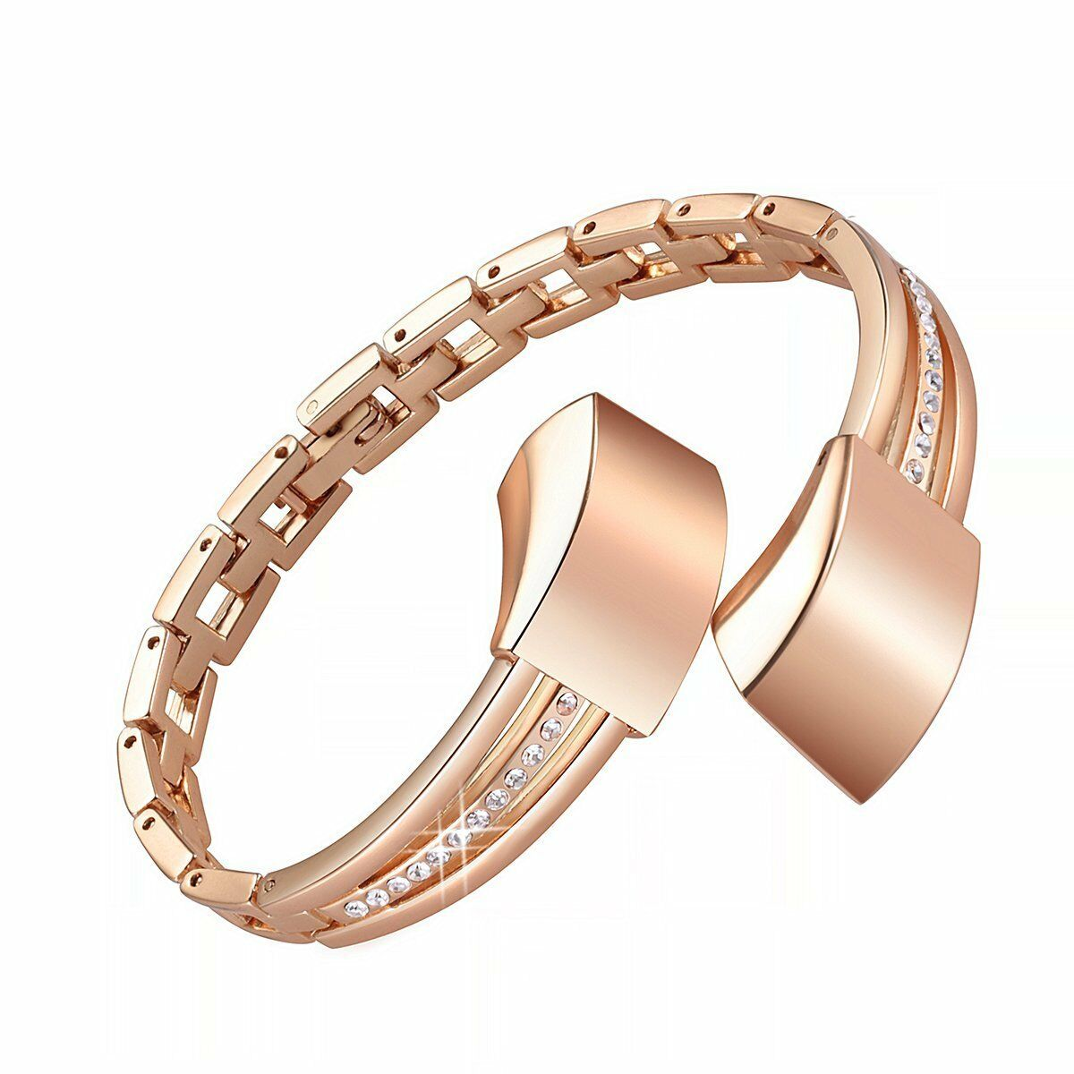 108b100b0 Good Rose Gold Metal Jewelry Bracelet for Fitbit ALTA Fitness Activity Band  for sale online | eBay