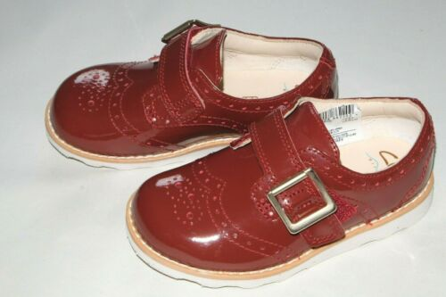 Clarks Wine Patent Leather girl/'s shoes//brogues infants 5//21-11//29 New