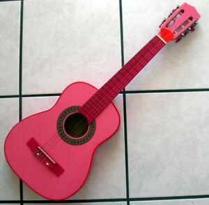 Bontempi Girl - Gsw 7571/s - Guitare En Bois Rose - Avec Médiator Soyez Astucieux Dans Les Questions D'Argent