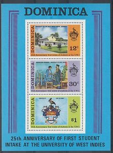 TIMBRE-STAMP-BLOC-ILE-DOMINICA-Y-amp-T-23-UNIVERSITE-ECOLE-NEUF-MNH-MINT-1974-A37