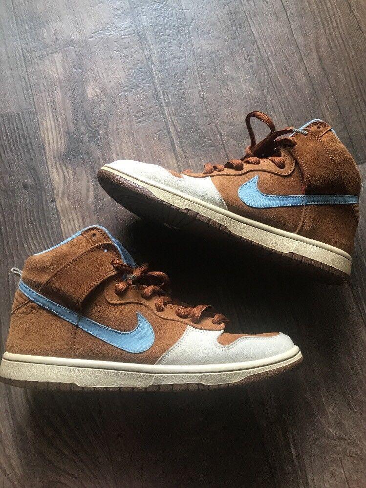 Nike SB Skate Uomotal Dunk High Hazelnut Light Blue 313171-241 VNDS 2009! Sz 8.5