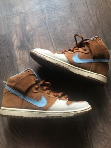 sale retailer ec677 2824e Image is loading Nike-SB-Skate-Mental-Dunk-High-Hazelnut-Light-